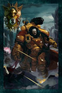 Tor Garadon is the Imperial Fists' longest serving Battle Company Captain, an unstoppable warrior in whom the lessons of the Primarch have been distilled to their most punishing form. Warhammer 40k Art, Warhammer Models, Salamanders Space Marines, Imperial Fist, Future Soldier, The Grim, Geek Art, Sci Fi Fantasy, Oeuvre D'art