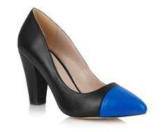 LILA Fashion | Beaulieu Court Heel | Black & Royal Blue | $122.00