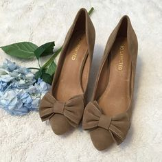 Restricted pumps that are gorgeous!  Shoes by Restricted!   I have never worn these shoes but I love them! . Gorgeous Suede shoes with bows. I love bows!  Never worn. No Trades Restricted Shoes Heels