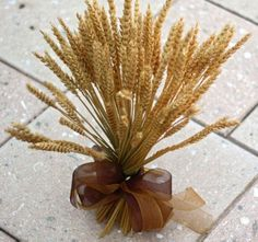 Dried Wheat Grass Centerpiece for Fall or rustic look.