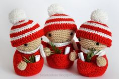Amigurumi christmas elf placeholder - Elfo segnaposto a uncinetto - besenseless.blogspot.com ✿⊱╮Teresa Restegui http://www.pinterest.com/teretegui/✿⊱╮