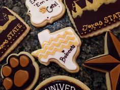 Texas State University Bobcats Cookies - Cake Doctor, LLC