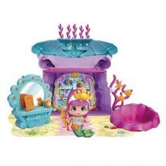 Diviertete con los muñequitos Pin y Pon de la cueva de las sirenitas que incluye tocador con forma de concha, una bañera, la figura de una sirenita y muchos accesorios pequeños.¡Tendrás horas de diversión!