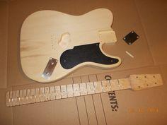 Custom Pre-Order Pine Guitar Body Prototype49 w/Snakehead Neck And Plates USA #guitarsbydesign