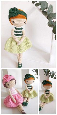 Educational and interesting ideas about amigurumi, crochet tutorials are here. Doll Amigurumi Free Pattern, Crochet Dolls Free Patterns, Amigurumi Doll, Crochet Doll Tutorial, Crochet Diy, Crochet Mignon, Love Knitting, Ballerina Doll, Diy Doll
