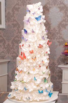 Schmetterling Hochzeitstorte www.Cupcakes-Manufaktur.at