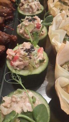 Cucumber cups with tuna salad