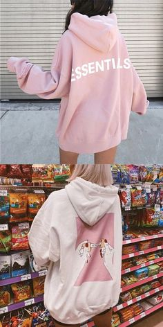 Teenager Outfits, Girl Outfits, Cute Outfits, Fashion Hoodies, Korean Street Fashion, Pink Fashion, Everyday Outfits, Jogging, Chill