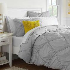 PB Teen Diamond Dream Duvet Cover, Full/Queen, Light Grey at Pottery... (880 SEK) ❤ liked on Polyvore featuring twin bedding, light grey bedding, twin xl bedding, light gray bedding and twin bed linens