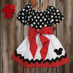 Black Red Dot White Sash Dress