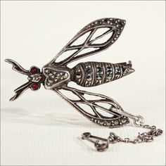Vintage Art Deco Wasp Brooch Pin with by VictoriaSterling on Etsy