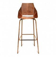 JULIE - My husband loves these barstools because they are copper.  What do you think?  Kind of pricey, but they would make him happy.  Wouldn't really bring in the pop of color in any way......  Blu Dot Real Good Barstool - Copper