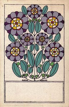 'Stylized Flowers' by Gustav Marisch Colour lithograph published 1912 by Wiener Werkstätte. Image and text courtesy The Metropolitan Museum of Art. Art And Illustration, Floral Illustrations, Klimt, Scandinavian Folk Art, Les Sentiments, Elements Of Design, Arts And Crafts Movement, Poster, Pottery Art