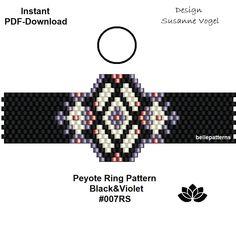 peyote ring pattern,PDF-Download, #007RS, beading pattern,ring pattern,ring shape pattern,pdf pattern,bellepatterns,pdf file,digital file von bellepatterns auf Etsy