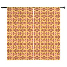 Unique Yellow Red Pattern chiffon curtains #cafepress #homedecor #decor
