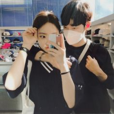 Image about couple in misc: ulzzang by ilene! Ulzzang Couple, Ulzzang Girl, Couples Images, Cute Couples, Cute Couple Pictures, Couple Photos, Fall In Luv, Korean Couple, Ulzzang Fashion