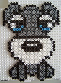 Hund hama beads by Les loisirs de Pat