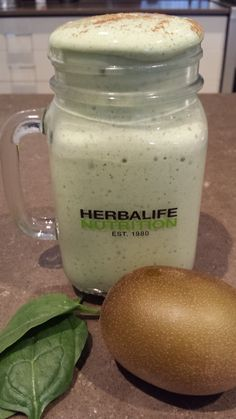Herbalife Protein, Herbalife Nutrition, Green Smoothie Recipes, Yummy Smoothies, Shake Recipes, Fruit Recipes, Kiwi, Nutrition Club, Fruit Shakes