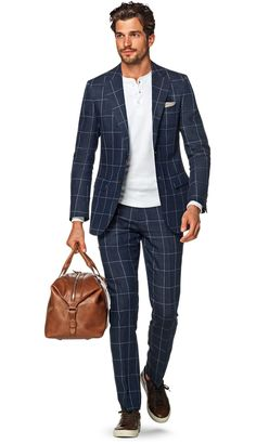 Suit Blue Check Lazio P5141 | Suitsupply Online Store