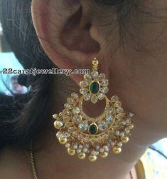 Gold Bangles Design, Gold Earrings Designs, Gold Jewellery Design, Designer Jewelry, Gold Jhumka Earrings, Earings Gold, Peacock Earrings, Indian Wedding Jewelry, Bridal Jewellery