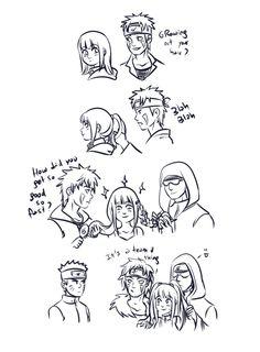 S'right Naruto, buzz off! Bby Hina is havin' bff time. Gabzillaz' Team 8 playing with Hinata's hair. Anime Naruto, Naruto Comic, Naruto Cute, Naruto Girls, Naruto Shippuden Anime, Hinata Hyuga, Naruhina, Shikatema, Team 8 Naruto