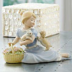 Blue Flower Girl Figurine by Lenox