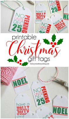 These printable Christmas gift tags will add a colorful touch to all your holiday gifts. Modern Christmas Decor, Christmas Holidays, Christmas Crafts, Xmas, Christmas Ideas, Christmas Wrapping, Happy Holidays, Holiday Ideas, Merry Christmas