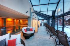 Relax and enjoy the view from the pool area. Beau Site, Flatscreen, Zermatt, Housekeeping, Bathtub, Relax, Outdoor Decor, Ticket, Wi Fi
