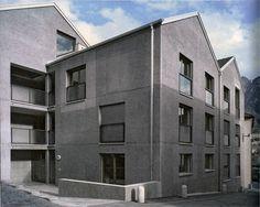 Miroslav Šik, Residential building Bürgerhuus in Haldenstein, 2007 Miroslav Sik, Social Housing, Space Architecture, Facade Design, Multi Story Building, Exterior, Windows, World, House