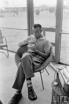 electronicsquid: Alan Shepard (Ralph Morse. 1961) via famouspeopledrinkingtea.tumblr.com