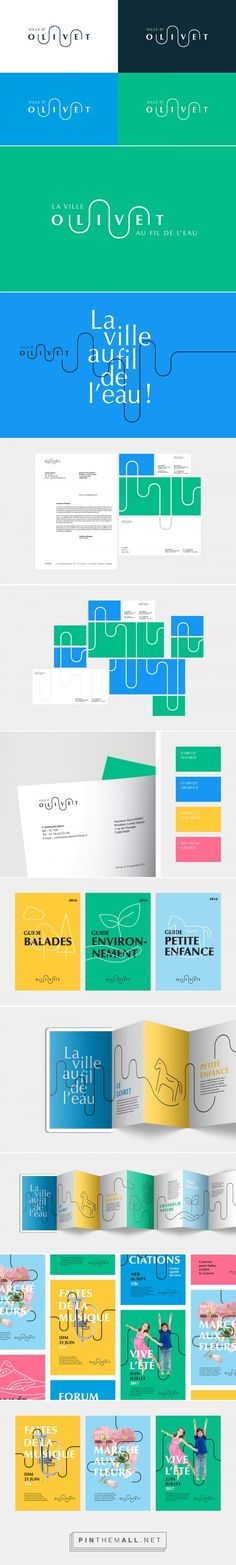 Ville d'Olivet -Brand design on Behance... - a grouped images picture - Pin Them All