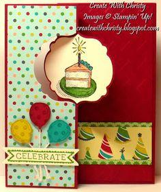 Stampin' Up! Sketched Birthday Flip-Flop Card - Label Card Thinlits Die - Christy Fulk, Stampin' Up! Demo