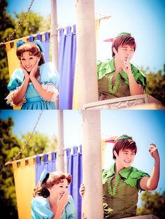 peter pan and wendy at disneyland Disney Dream, Disney Girls, Disney Love, Disney Magic, Disney Fairies, Disney Princess, Disney And Dreamworks, Disney Pixar, Peter And Wendy