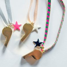 Whistle and star necklace by Atsuyo et Akiko * www.the-pippa-and-ike-show.com