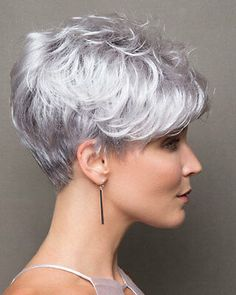 Icy Short Pixie Cut - 60 Cute Short Pixie Haircuts – Femininity and Practicality - The Trending Hairstyle Haircut For Older Women, Short Hair Cuts For Women, Short Hairstyles For Women, Simple Hairstyles, Straight Hairstyles, Short Pixie Haircuts, Pixie Hairstyles, Pixie Bob, Pixie Cuts