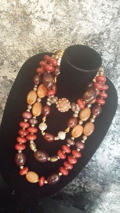 Big Bold Chunky Moroccan Autumn Statement Necklace Set Mix Match 4 Necklaces | eBay