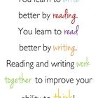 You learn to write better by reading. You learn to read better by writing. Reading and writing work together to improve your ability to think! Classroom Quotes, Classroom Posters, Classroom Decor, Learning To Write, Teaching Reading, Free Reading, Teaching Tools, The Words, Reading Recovery