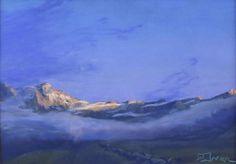 "Fabrice TIXIER ""Opus bleu"" pastel 30 x 43 cm SBD"