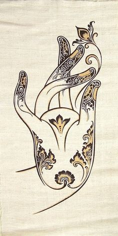 Handmade Hemp Wall Hanging Batik /Tapestry Buddha by SilverShapes