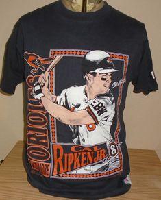 c4ea202dc24 vintage 1992 Baltimore Orioles Cal Ripken Jr. 8 baseball Black XL t shirt