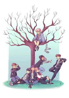 How did the shortest member of BTS get up that tree