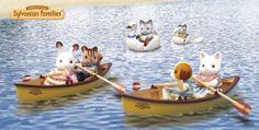 Balade en canoë avec les copains.