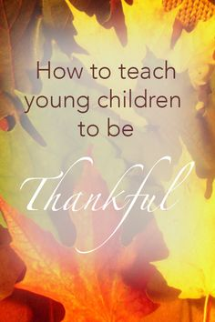 Teaching Young Kids to be Thankful | Mommy Sanest