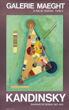 Kandinsky Bauhaus de Dessau 1927-1933 - Galerie Maeght by Kandinsky, Wassily | Shop original vintage #posters online: www.internationalposter.com