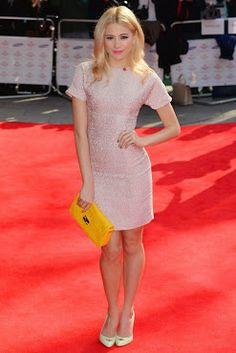 Pixie Lott is wearing a dress by Dolce & Gabbana