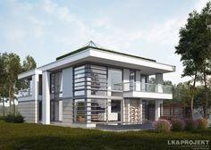 LK&1298 - http://lk-projekt.pl/lkand1298-produkt-9623.html  #project #houseproject #house #modern #architecture #polisharchitecture #homesweethome #singlefamilyhouse #exterior #build #dreamhome #dreamhouse #design #villa #residence