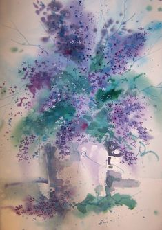 "Saatchi Online Artist: Micheal Jones; Watercolor, 2012, Painting ""Lilacs"""