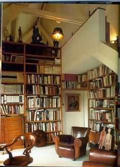 Bookshelves:  like stairs idea w/ plexiglass & wood trim for hand rail