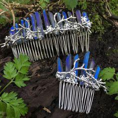 The DEMETER Comb  Blue Titanium Crystal Twig by HowlingMoonUK