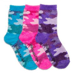Cozy Camo Socks #Funkysocks #littlemissmatched